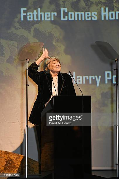 Dame Maggie Smith speaks onstage at the 62nd London Evening Standard Theatre Awards, recognising excellence from across the world of theatre and...
