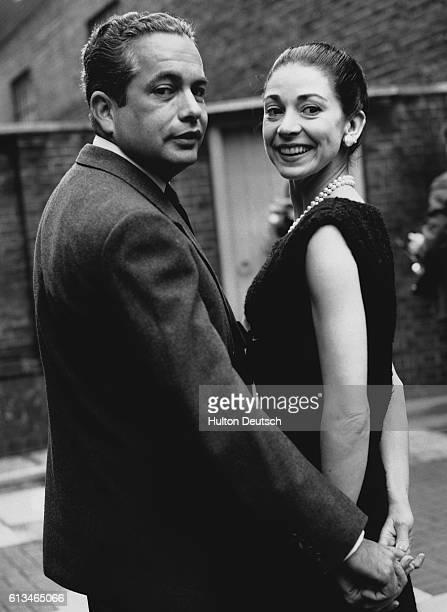 Dame Margot Fonteyn and her husband Dr Roberto Arias in their garden