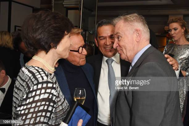 Dame Mary Archer John Swannell Jesus Adorno and Lord Jeffrey Archer attend the launch of John Swannell's photography exhibition at Le Caprice on...