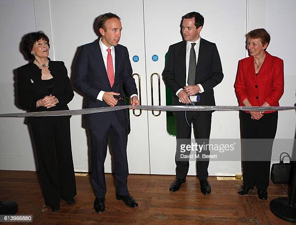 Dame Mary Archer Matt Hancock George Osborne and Helen Sharman attend the opening of the Science Museum's new interactive gallery 'Wonderlab' on...