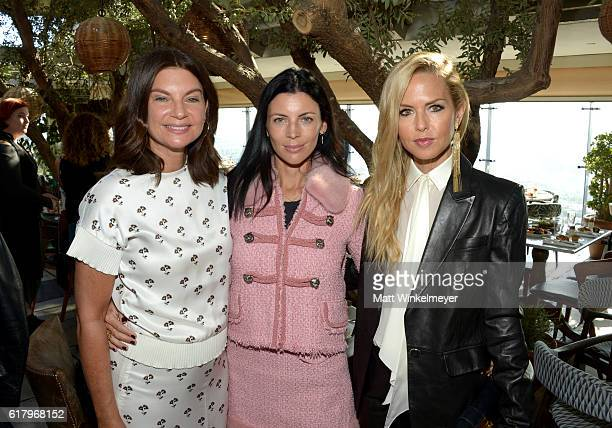 Dame Natalie Massenet fashion model Liberty Ross and designer/stylist Rachel Zoe attend The Fashion Awards 2016 Official Nominees Announcement Brunch...