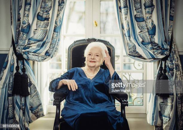 Dame Olivia Mary de Havilland is photographed for The New York Times on February 2018 in Paris France