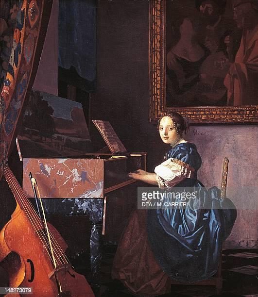 Dame on spinet by Jan Vermeer London National Gallery
