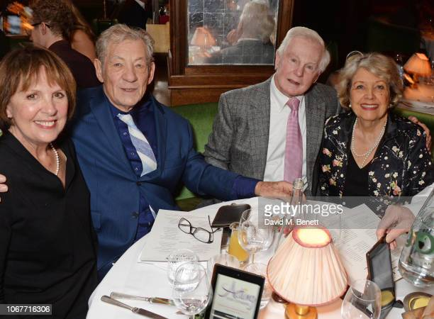 Dame Penelope Wilton Sir Ian McKellen Sir Derek Jacobi and Anne Reid attend the annual 'One Night Only At The Ivy' in aid of Acting For Others on...