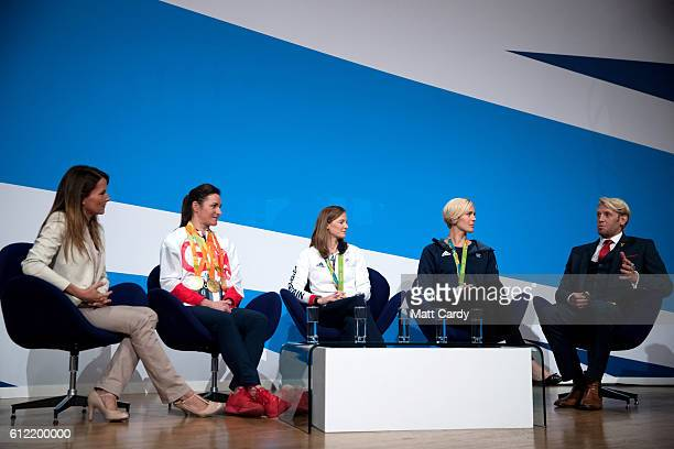 Dame Sarah Storey Britain's most successful female Paralympian Helen RichardsonWalsh hockey gold medalist rower Vicky Thornley and Andrew Triggs...