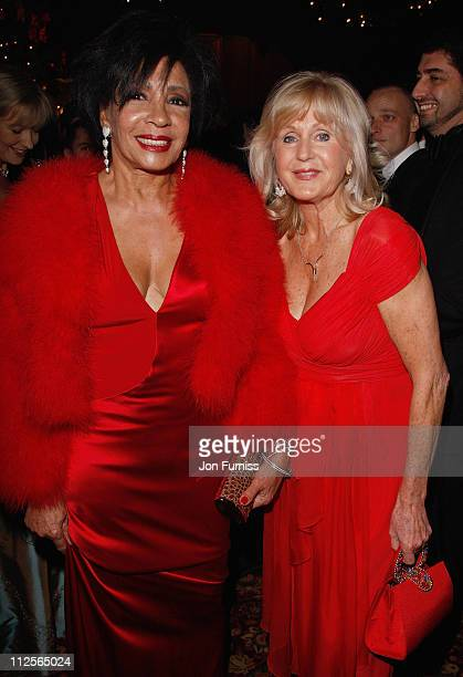 Dame Shirley Bassey and Liz Brewer attend Christmas party in honour of Dame Shirley Bassey to celebrate her 70th Birthday kindly hosted by Von Essem...