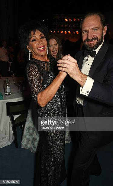 Dame Shirley Bassey and Ralph Fiennes attend The 62nd London Evening Standard Theatre Awards after party recognising excellence from across the world...