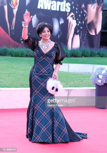 Dame Shirley Bassey arrives at the Scottish Fashion Awards at Glasgow Science Centre on June 15 2011 in Glasgow Scotland
