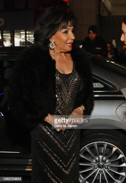 Dame Shirley Bassey arrives in Audi at Evening Standard Theatre Awards at the Theatre Royal Drury Lane on November 18 2018 in London England