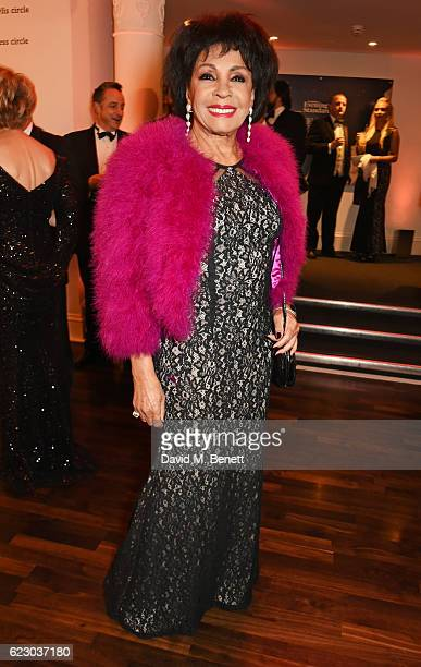 Dame Shirley Bassey attends a cocktail reception at The 62nd London Evening Standard Theatre Awards recognising excellence from across the world of...