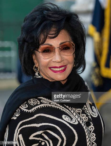 Dame Shirley Bassey attends a Service of Thanksgiving for the life and work of Sir Donald Gosling at Westminster Abbey on December 11 2019 in London...