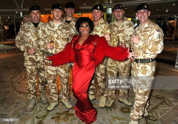 Dame Shirley Bassey attends Fashion For The Brave at The Dorchester Hotel on October 26 2010 in London England