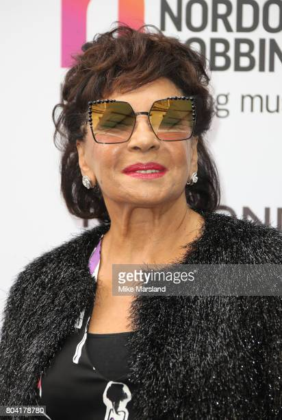 Dame Shirley Bassey attends Nordoff Robbins O2 Silver Clef awards at The Grosvenor House Hotel on June 30 2017 in London England