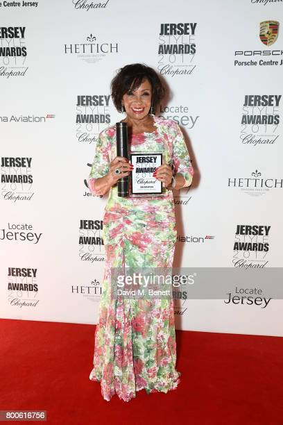 Dame Shirley Bassey attends the Jersey Style Awards 2017 in association with Chopard at The Royal Jersey Showground on June 24 2017 in Trinity Jersey
