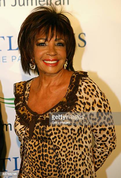 Dame Shirley Bassey attends the landmark Grand Opening of Atlantis The Palm Resort and the Palm Jumeirah on November 20 2008 in Dubai United Arab...