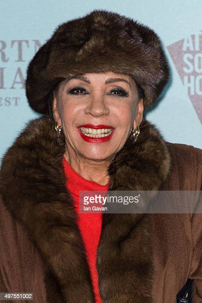 Dame Shirley Bassey attends the launch of 'Skate @ Somerset House' at Somerset House on November 17 2015 in London England