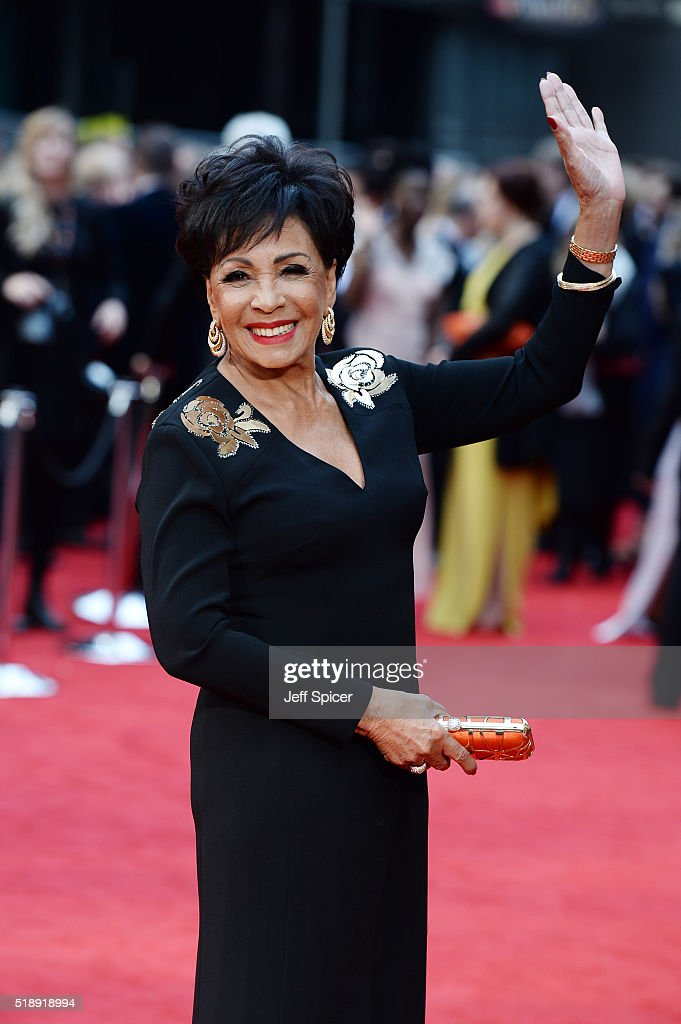 Dame Shirley Bassey attends The Olivier Awards with Mastercard at The Royal Opera House on April 3, 2016 in London, England.
