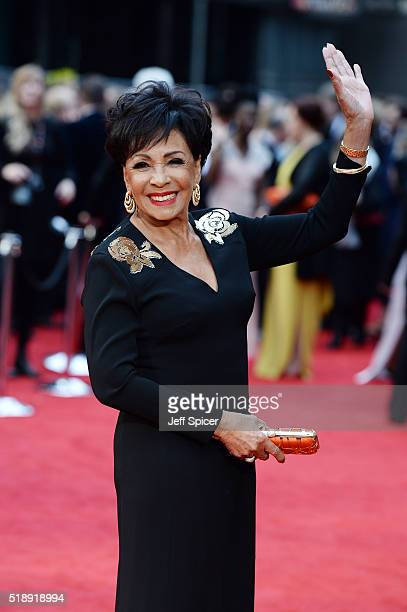 Dame Shirley Bassey attends The Olivier Awards with Mastercard at The Royal Opera House on April 3 2016 in London England