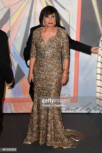 Dame Shirley Bassey attends the Rose Ball 2014 in aid of the Princess Grace Foundation at Sporting MonteCarlo on March 29 2014 in MonteCarlo Monaco