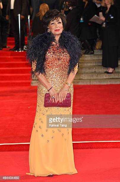 Dame Shirley Bassey attends the Royal Film Performance of 'Spectre' at the Royal Albert Hall on October 26 2015 in London England