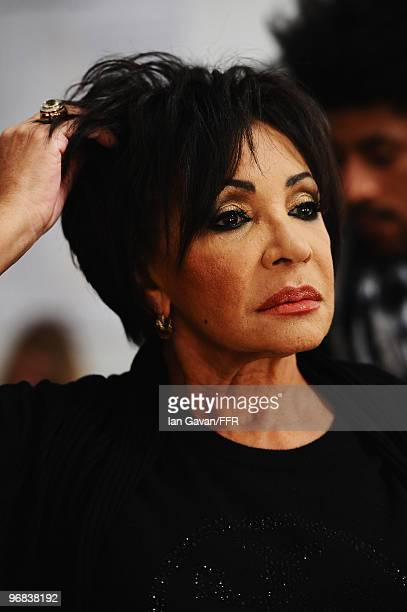 Dame Shirley Bassey during rehearsals at Naomi Campbell's Fashion For Relief Haiti London 2010 Fashion Show at Somerset House on February 18 2010 in...