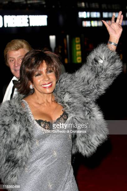 Dame Shirley Bassey during The Phantom of the Opera London Premiere Arrivals at Leicester Square in London England Great Britain