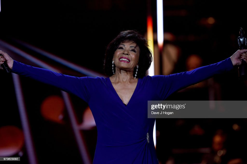 Dame Shirley Bassey on stage during the 2018 Classic BRIT Awards held at Royal Albert Hall on June 13, 2018 in London, England.