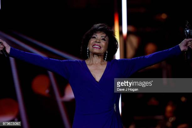 Dame Shirley Bassey on stage during the 2018 Classic BRIT Awards held at Royal Albert Hall on June 13 2018 in London England