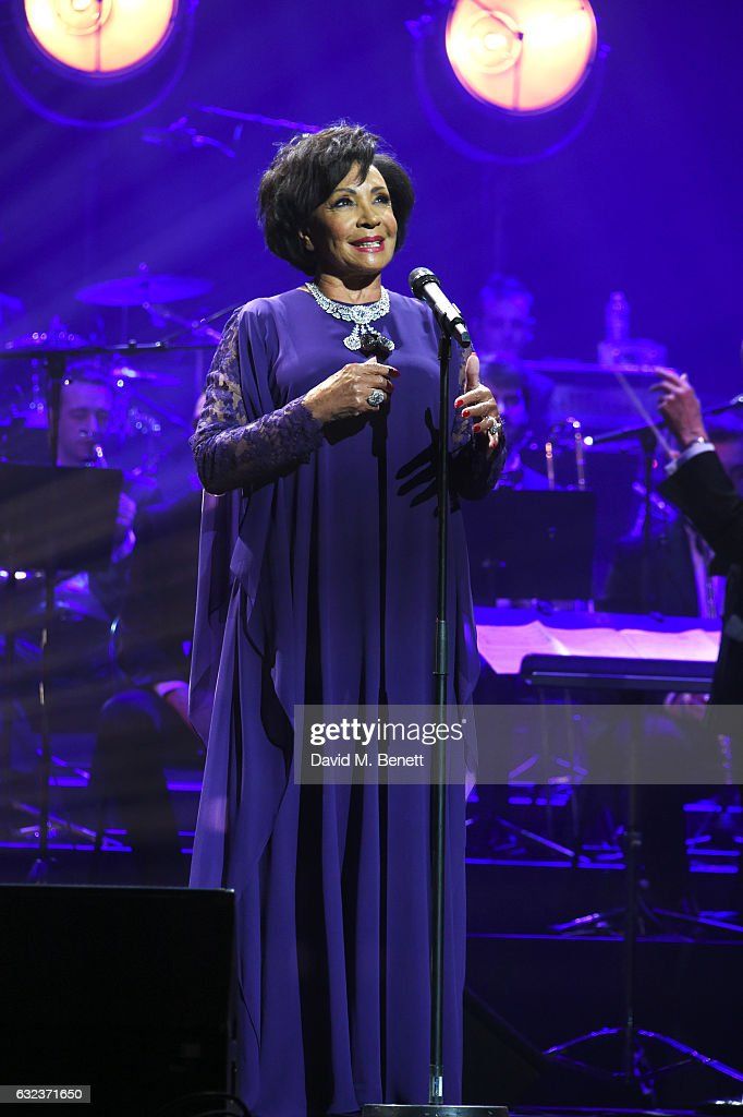 Dame Shirley Bassey performs as Chopard presents The Garden Of Kalahari collection at Theatre du Chatalet on January 21, 2017 in Paris, France.