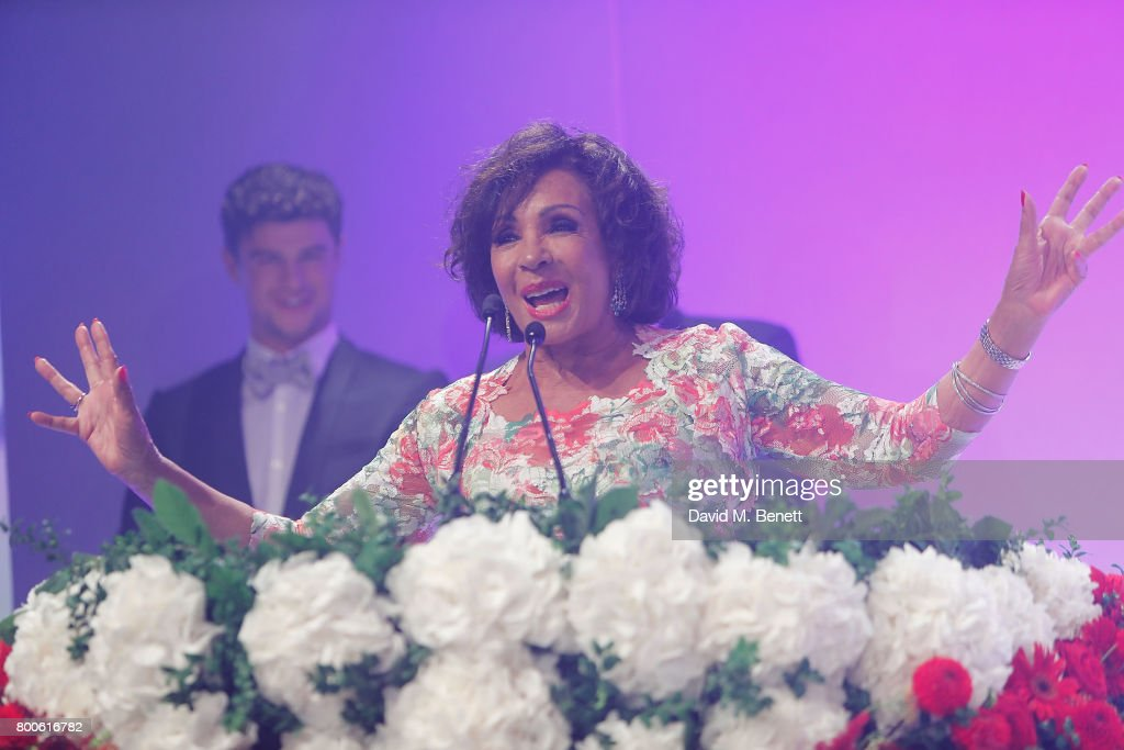 Dame Shirley Bassey performs at the Jersey Style Awards 2017 in association with Chopard at The Royal Jersey Showground on June 24, 2017 in Trinity, Jersey.