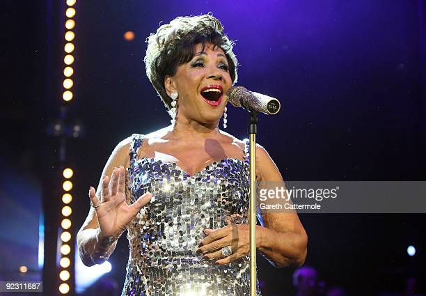 Dame Shirley Bassey performs during the BBC Electric Proms festival at The Roundhouse on October 23 2009 in London England