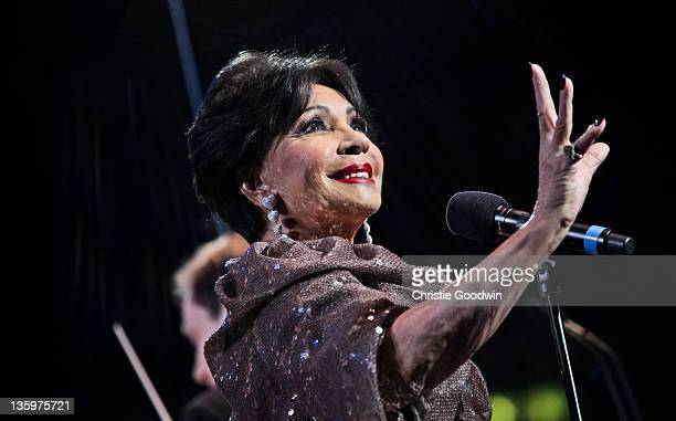 Dame Shirley Bassey performs on stage at the Royal Albert Hall on June 20 2011 in London UK