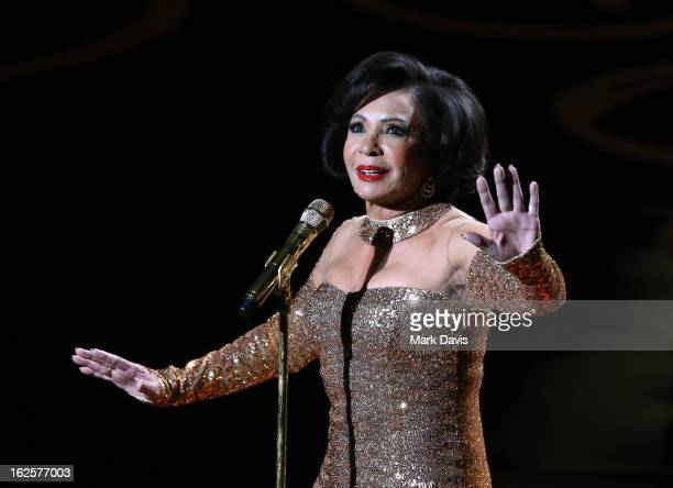Dame Shirley Bassey performs onstage during the Oscars held at the Dolby Theatre on February 24 2013 in Hollywood California