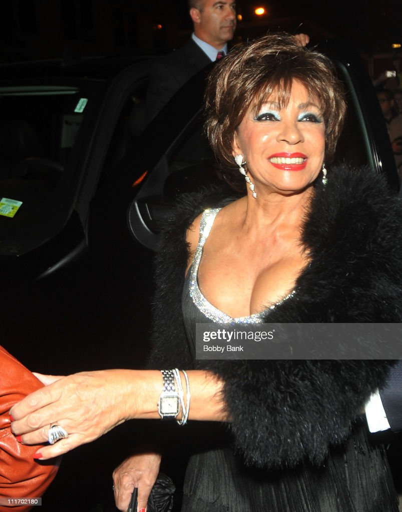 Dame Shirley Bassey seen leaving the Almay Concert to celebrate the Rainforest Fund's 21st birthday at Carnegie Hall in Manhattan on May 13, 2010 in New York City.