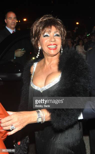 Dame Shirley Bassey seen leaving the Almay Concert to celebrate the Rainforest Fund's 21st birthday at Carnegie Hall in Manhattan on May 13 2010 in...