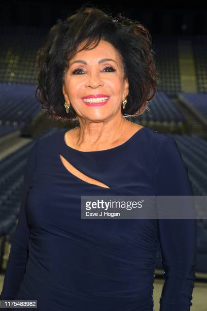 Dame Shirley Bassey unveils her handprints in the form of a bronze plaque in the 'Square of Fame' at SSE Arena Wembley on September 18 2019 in London...