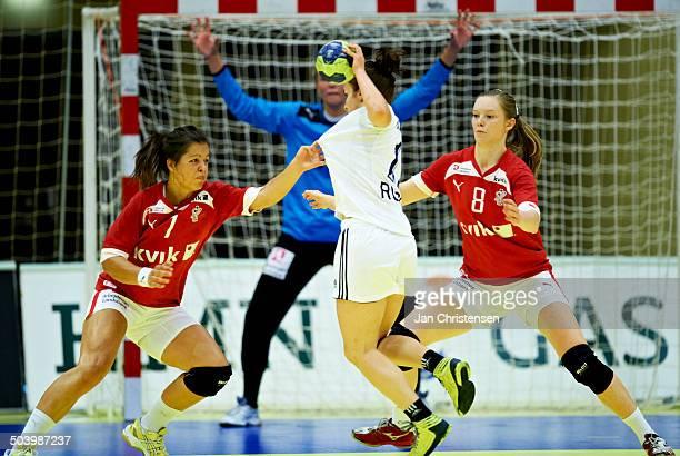 Dame U19 semifinal Russia vs Denmark From left Annika Meyer Anne Mette Hansen © Jan Christensen/FrontzoneSportdk