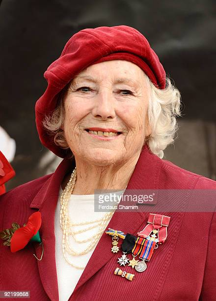 Dame Vera Lynn attends a press launch for the Poppy Appeal on October 22 2009 in London England