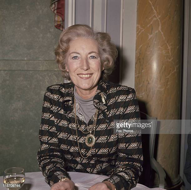 Dame Vera Lynn British singer whose popularity during the popular during World War II led to her being known as 'The Forces' Sweetheart' circa 1975