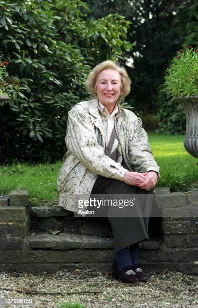 Dame Vera Lynn photographed at home in Ditchling East Sussex UK 1990