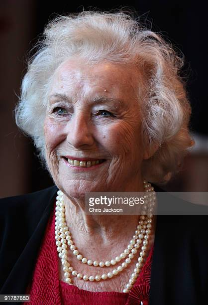 Dame Vera Lynn smiles as she attends the Women of the Year Lunch at Intercontinental Hotel on October 12 2009 in London England