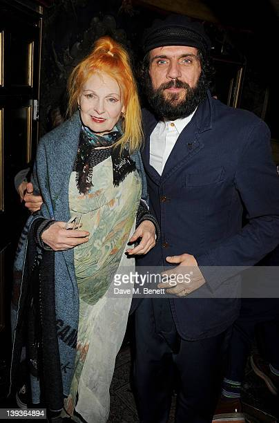Dame Vivienne Westwood and Andreas Kronthaler attend the Vivienne Westwood after party with Belvedere during London Fashion Week Autumn/Winter 2012...