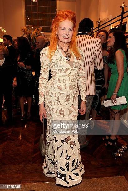 Dame Vivienne Westwood at the launch of her new 'Get a Life' Palladium Jewelry Collection and boutique opening in Los Angeles on March 30 2011 in Los...