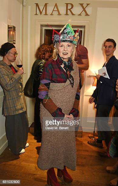 Dame Vivienne Westwood attends a dinner which she hosted with The British Fashion Council to celebrate London Fashion Week Men's at Quo Vadis on...