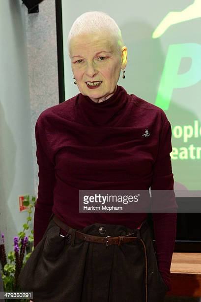Dame Vivienne Westwood attends a lunch hosted by Dame Vivienne Westwood for PETA on March 18 2014 in London England