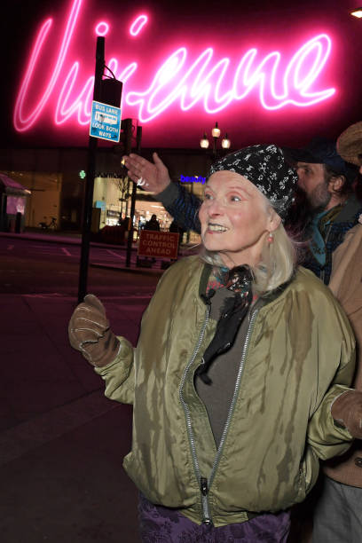 GBR: Dame Vivienne Westwood's 80th Birthday Screening With Art Collective CIRCA In Piccadilly Circus