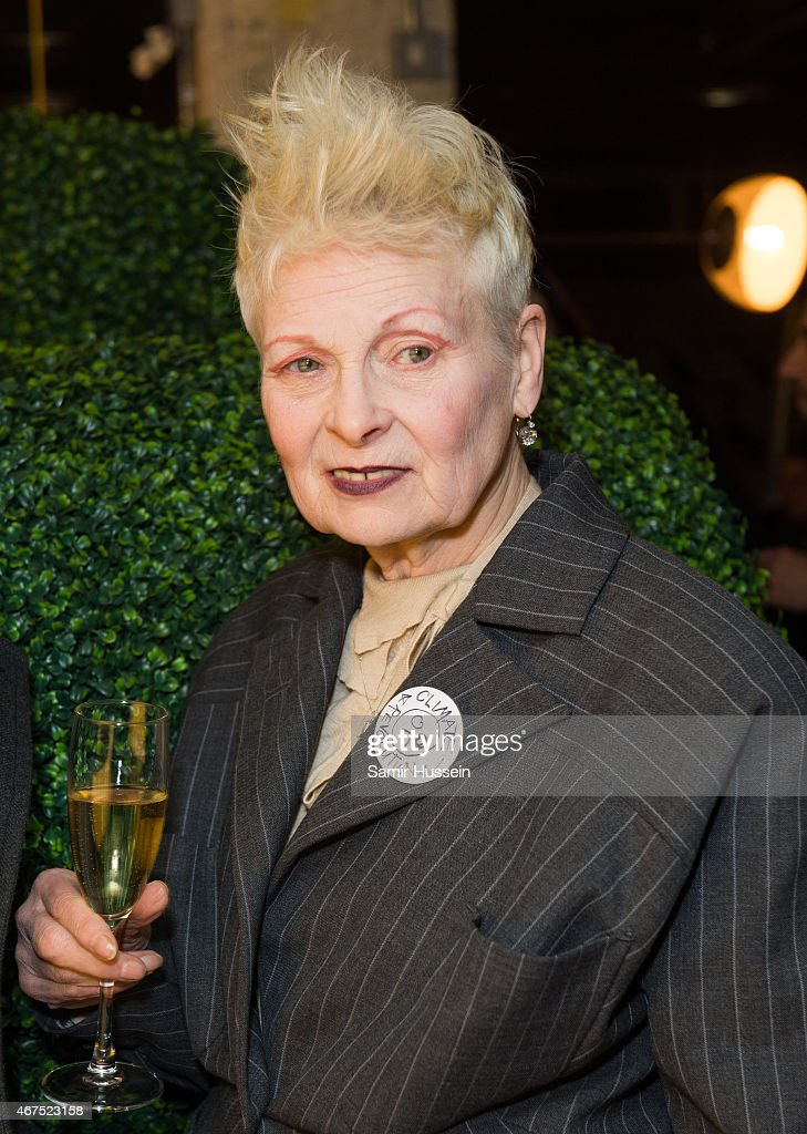 Dame Vivienne Westwood attends a Stella McCartney interview with Imran Amed of The Business of Fashion on March 25, 2015 in London, England.