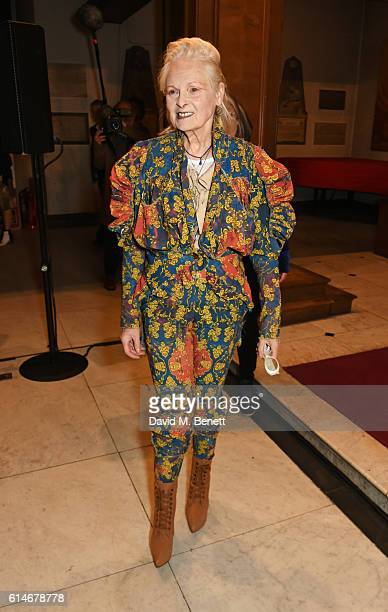 Dame Vivienne Westwood attends An Evening With Vivienne Westwood discussing her new book Get A Life The Diaries Of Vivienne Westwood at St James'...