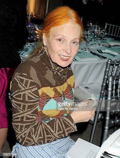 Dame Vivienne Westwood attends 'Arts For Human Rights' the inaugural Bianca Jagger Human Rights Foundation Gala supported by Swarovski at Phillips de...
