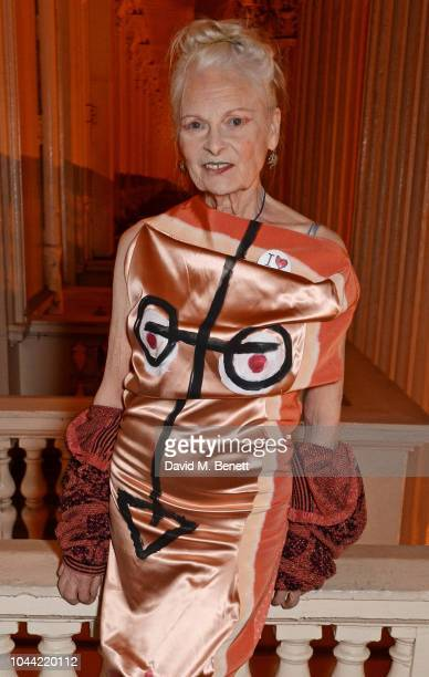 Dame Vivienne Westwood attends attends the annual Friends Of The Institute of Contemporary Arts dinner in honour of Chelsea Manning at ICA on October...